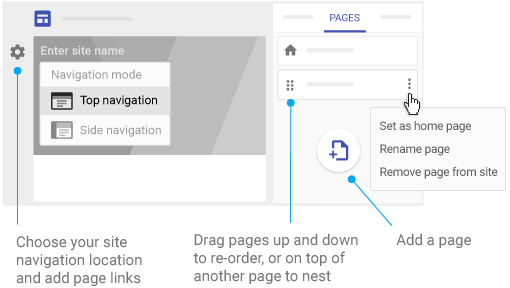 add pages and navigation